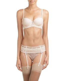 Lace And Mesh Suspender Belt