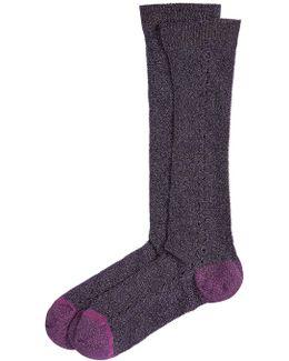 Socks With Metallic Thread