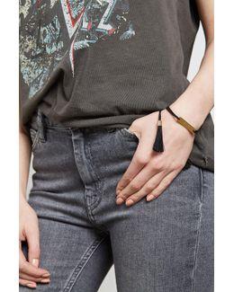 Woven Bracelet With Tassels