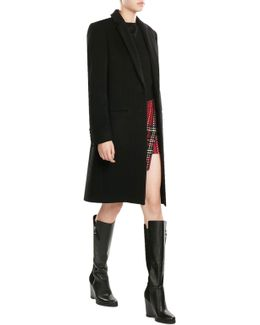 Leather And Suede Knee Boots