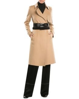 Shearling And Leather Belt