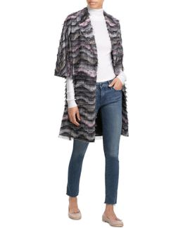 Woven Coat With Fringe