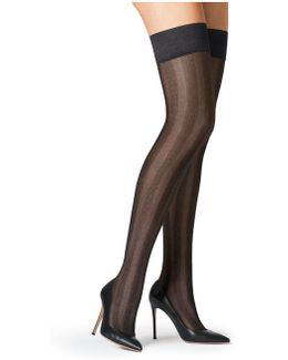 Striped Stay-up Stockings