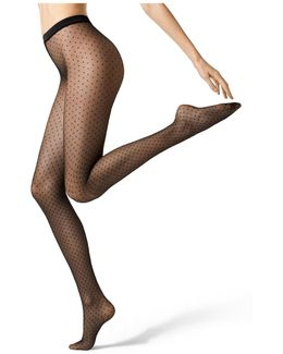 Spotted 15 Denier Tights