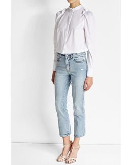 Distressed Jeans With High Waist