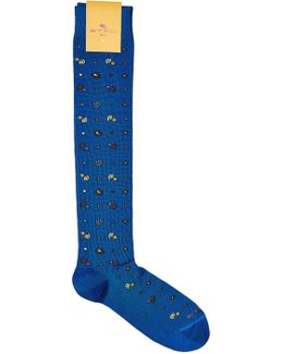 Printed Cotton-blend Socks
