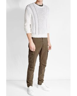 Cotton And Cashmere Cable Knit Pullover