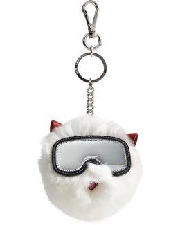 Rabbit Fur Keychain