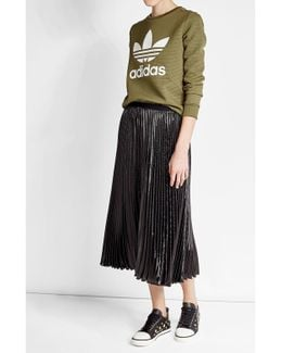 Pleated Skirt With Metallic Thread