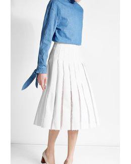 Canvas Midi Skirt