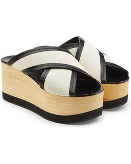 Wedges With Leather