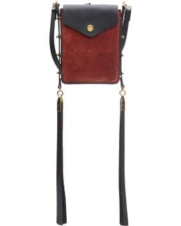 Shoulder Bag With Leather And Suede