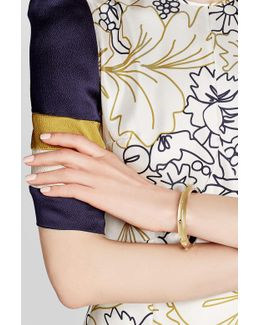 Lucite Bangle With Gold-plated Embellishments