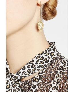 10kt Gold Plated Earrings With Crystals