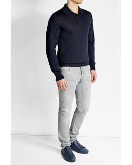 Vigin Wool Pullover With Silk