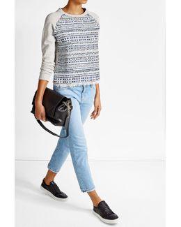 Woven Cotton Sweatshirt