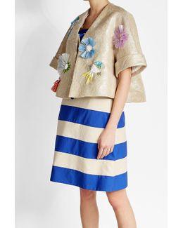 Embellished Jacket With Linen