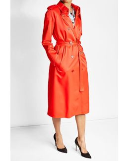 Trench Coat With Cotton