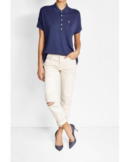 Polo Shirt With Cotton