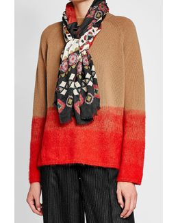 Printed Scarf With Cashmere
