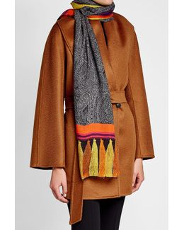 Printed Scarf With Wool And Silk