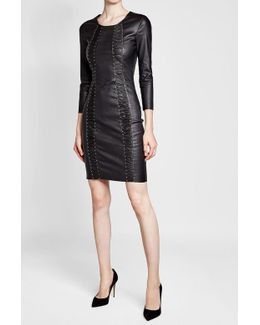 Express Studs Leather Dress