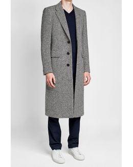 Donegal Herringbone Wool Topcoat