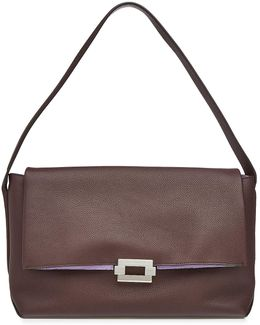 Refold Medium Leather Shoulder Bag
