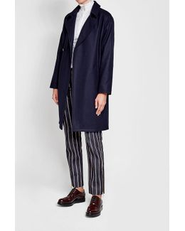 Belted Coat With Wool And Cashmere