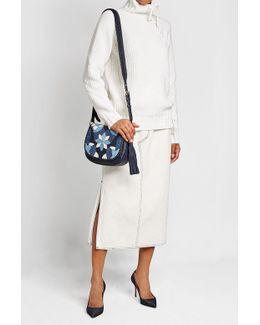 Suede And Leather Shoulder Bag