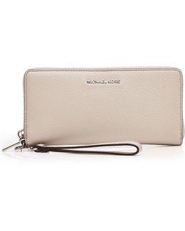 Leather Zip-around Wristlet Wallet