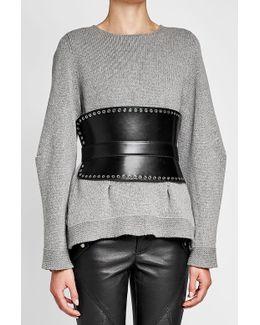 Leather Corset Belt With Eyelets