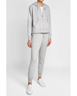 Zipped Hoodie With Cotton