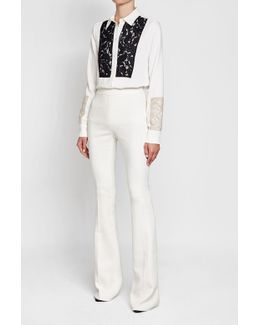 Flared Pants With Cotton