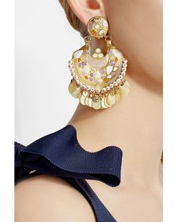 Embellished 24k Gold Plated Earrings