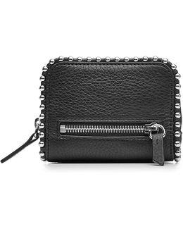 Embellished Leather Wallet