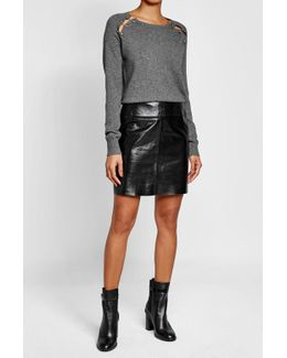 Embellished Wool Pullover With Cashmere