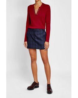 Embellished Wool-cashmere Pullover