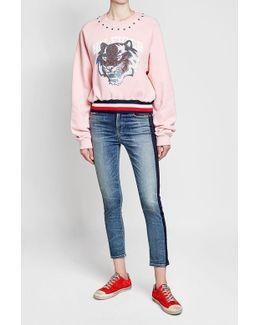 Embellished Cotton Sweatshirt