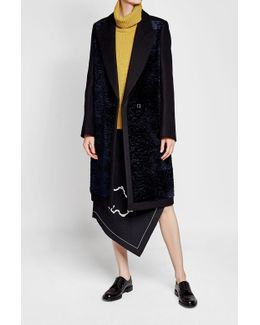 Coat With Velvet, Wool And Cashmere