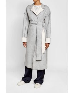 Wool-cashmere Coat With Belt