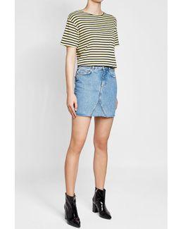 Cut-off Denim Mini Skirt