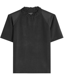Top With Ruffled Collar