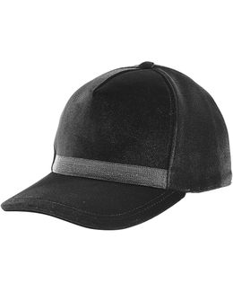 Embellished Velvet Cap