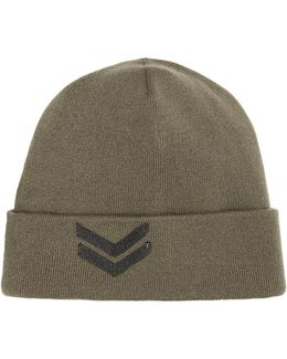 Cashmere Hat With Bead Embellishment