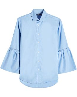 Cotton Shirt With Bell Sleeves