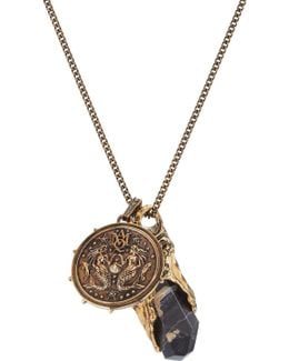 Necklace With Medallion And Stone