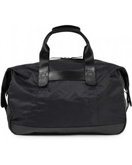Leather / Nylon 48 Hour Bag In Black