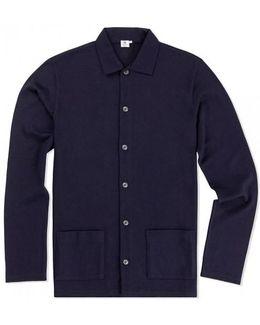 Men's Vintage Wool Jacket In Navy