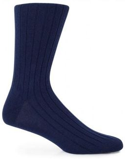 Cashmere Socks In Navy